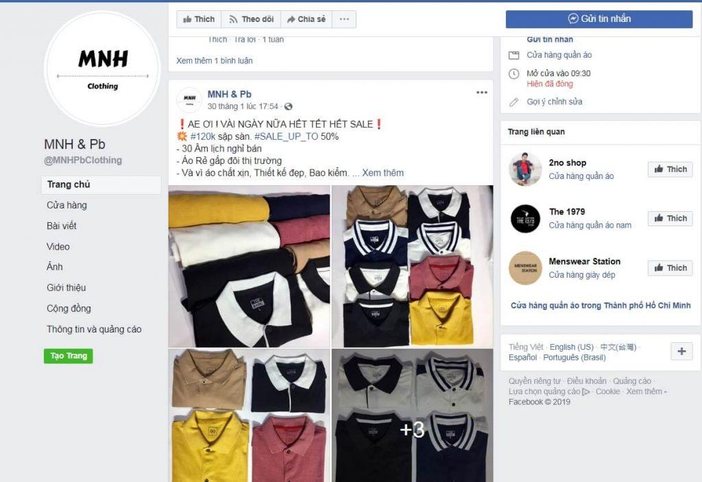 Bán quần áo online trên Facebook