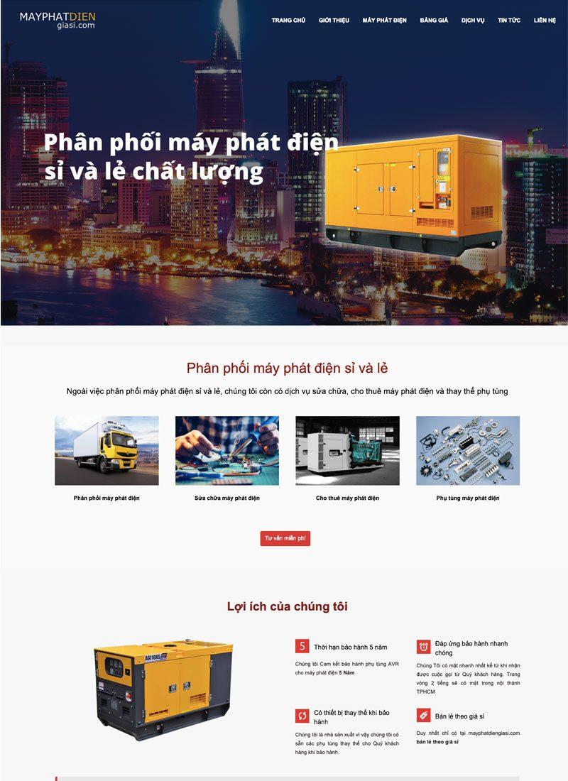 Website máy phát điện