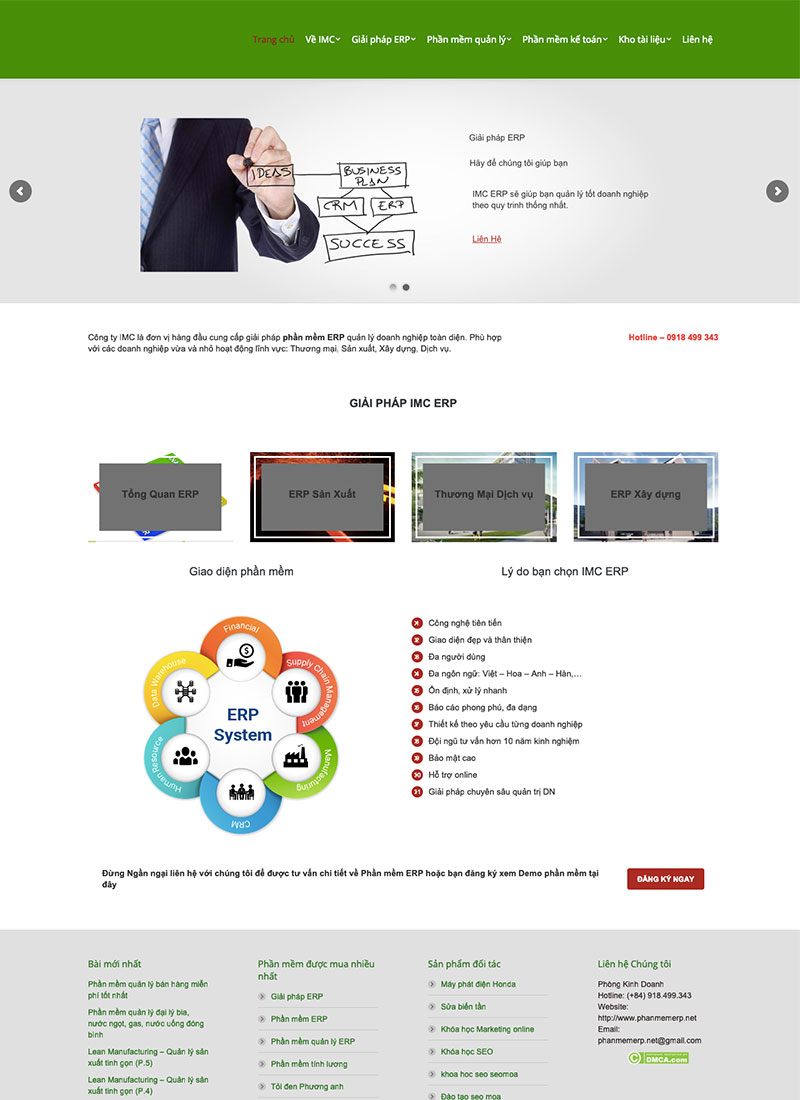 Website phần mề ERP