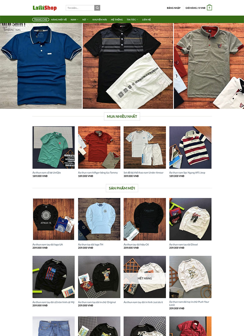 Website thời trang Lami