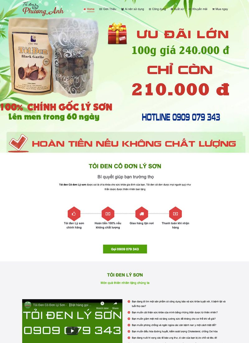 Website Tỏi đen