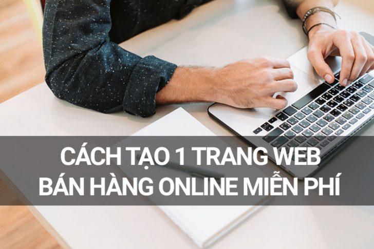 cách tạo 1 trang web bán hàng online
