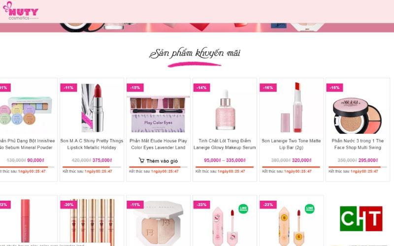 Bán mỹ phẩm online trên Website