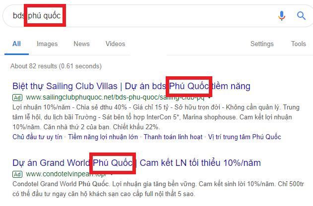 tăng điểm chất lượng google ads