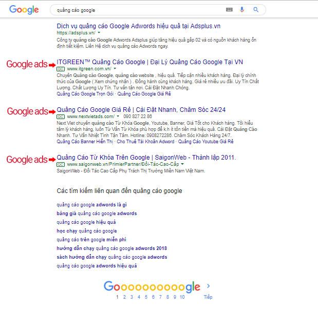 chạy quảng cáo google adwords hiển thị