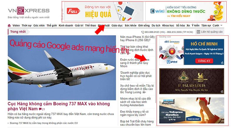 chạy quảng cáo google adwords mạng hiển thị