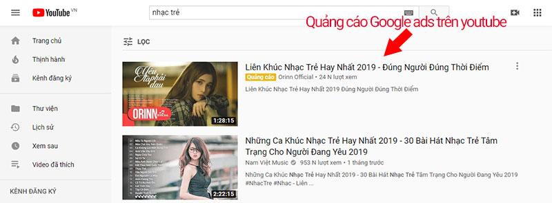 chạy quảng cáo google ads youtube