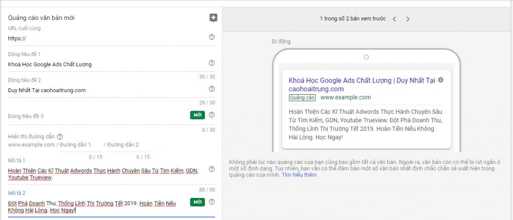Hướng dẫn tạo quảng cáo google ads