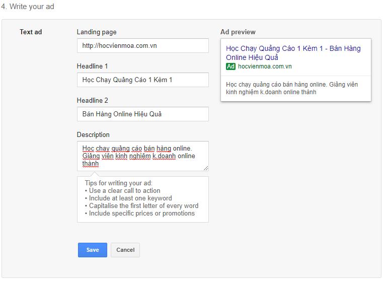 hướng dẫn cách tạo quảng cáo google ads