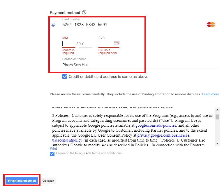 Hướng dẫn tạo tài khoản google ads