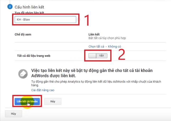 hướng dẫn liên kết tài khoản google ads