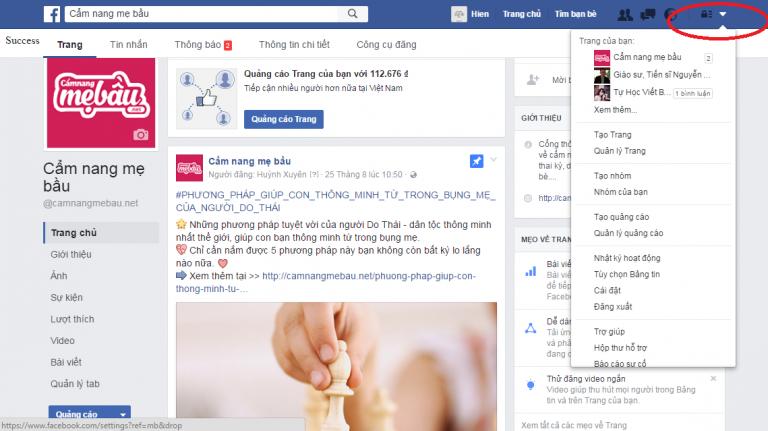 Đang nhập Facebook cá nhân